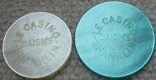 2 x Isla de Wight Casino Chips le Casino Daish's Shanklin 5/10/& - -