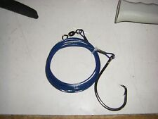 SHARK rig 200KG [445lb]  S/S COATED WIRE 20/0 eagle claw CIRCLE HOOK