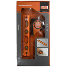Bahco Aluminium Magnetic Spirit Level 3 Vial and 5m Tape Measure Gift Set