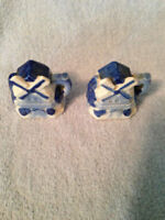 Vintage Ceramic Windmill Salt and Pepper Shakers Blue White Japan