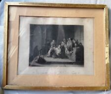 ANTIQUE PORTRAIT DOUBLE FRAME ENGRAVING SIMEON IN THE TEMPLE