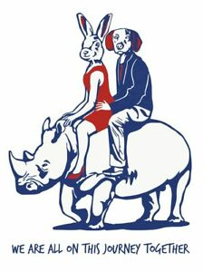 GILLIE AND MARC. Direct from artists. Authentic Illustration Art Print - Rhino