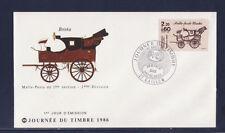 enveloppe 1er jour   journée du timbre     27  Gaillon        1986