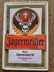 Jagermeister Embossed Tin Sign Man Cave