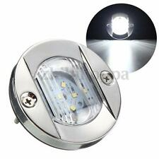 LED Marine Boat Light Transom Stainless Steel Anchor Stern Light White Round 12V