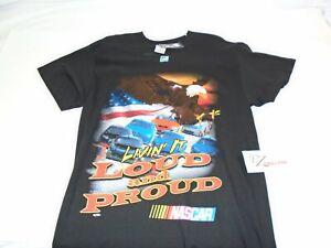 NASCAR Tee-Shirt LOUD AND PROUD Black Medium Shirt NASCAR Racing