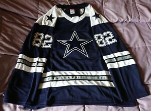 NFL NHL Replica Dallas Cowboys Hockey Jersey.Customizable.Any Size,Name,& Number