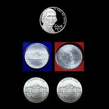 2010 P+D+S Jefferson Nickel Set ~ Gem Proof and  PD Satin Mint Wrap & Bank Roll