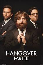 Hangover Part III Movie Poster Trio Bradley Cooper Zach Galifianakis Ed Helms