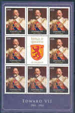 GAMBIA 2012 KINGS & QUEENS OF ENGLAND  KING EDWARD VII  SHEET OF EIGHT+LABEL