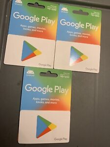 $200. Value Google Play Cards, Unscratched. 3 Available At $175 Each