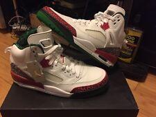 New Air Jordan Spizike OG Retro White Varsity Red Green Cement Grey Size 10.5