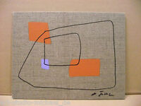 Michael Feicht (geb. 1959): Komposition aus feinen Linien mit farbigen Elementen
