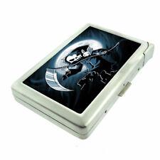 Reaper Moon Em1 Cigarette Case with Built in Lighter Metal Wallet