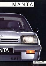 Opel Manta Prospekt 1985 10/85 Autoprospekt Broschüre brochure prospectus Auto