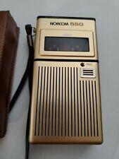 Vintage Norcom 550 Voice Recorder/Record Micro Cassette Handheld Device w/Case