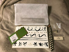 Kate Spade Daisy Place Pencil Pouch W/pencils Eraser Sharpner and Ruler