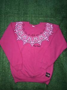 Vintage Harley Davidson Motorcycles Shield Pink 80s Cotton Blend Sweatshirt M