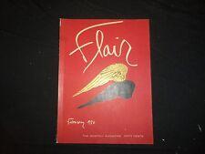 1950 FEBRUARY FLAIR MAGAZINE - VOLUME 1 NUMBER 1 - ST 1946