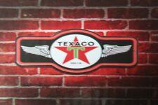 Texaco motor oil gasoline mancave led lighted neon sign shop garage home decor
