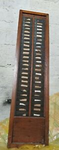 Vintage single  Clocking In Card Rack For Clocking In Machine