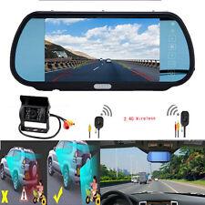 "7"" TFT LCD Rear View Monitor +Wireless Night Vision Backup Camera for Vehicle"