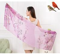 Women Long Printed Stole Scarves Wrap Ladies Soft Shawl Silk Chiffon Scarf