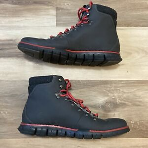 Cole Haan Zero Grand Mens Gray Nubuck Lace Up Hiking Boots C29486 Size 10M