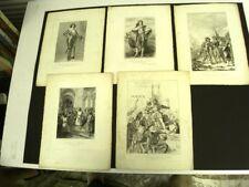 GRAVURES  SUR ACIER (5) EVENEMENTS HISTORIQUES DE FRANCE DEPUIS 1500 - Grav I/II