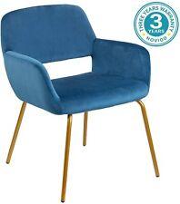 Novigo Modern Velvet Accent Chair with Armrest and Solid Golden Metal Leg Living
