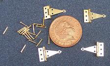Quattro cerniere a T in ottone e spille Dolls House miniatura scala 1:12 accessori 671