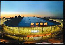 Beijing South Railway Station postcard train railroad