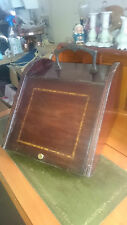 Victorian - Oak Coal Scuttle with Light Wood Inlay.