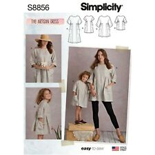 Simplicity 8856 Sewing Pattern Misses 6-24 Child 3-8 EASY Artisan Dress Tunic