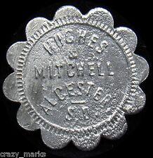 Alcestor South Dakota Hughes & Mitchell  GOOD FOR 10 cents TRADE TOKEN #MD356