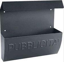 ALUBOX - CASSETTA POSTALE PUBBLICITA' COLORE GHISA MADE IN ITALY ESTERNO