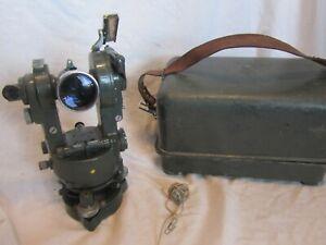 Vintage Surveyors Hilger & Watts Theodolite ST156-4 in Original Metal Case