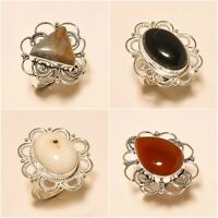 Wholesale Lots Onyx Carnelian Opal Silver Plated Handmade Jewelry Ring size 5-9
