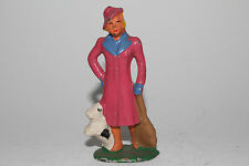 Barclay Vintage Lead Figure, B157 (#610) Woman Passenger with Dog #3