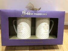 Golden wedding anniversary Mug Set -50 Years Marriage Anniversary Gift His-Her