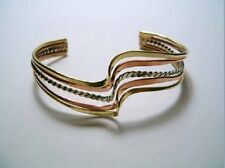 STUNNING MEXICAN GOLD, ROSE GOLD, SILVER TONE BANGLE BRONZE/ALPACA **SALE**