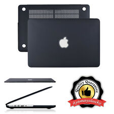 "Black Rubberized Matte Hard Shell Case Protector MacBook Retina 15"" A1398 1"