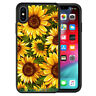 Fashion Sunflower Rubber Phone Case Cover For iPhone X XS MAX&Samsung Galaxy S10