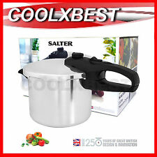 BRAND NEW SALTER 5L ALUMINIUM PRESSURE COOKER 2 SETTINGS with STEAM BASKET