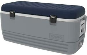 Igloo Maxcold Cooler 95 Litre Grey & Blue Camping Fishing Drinks Cool Box Boat