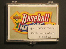 1992 Upper Deck TED WILLIAMS Baseball Heroes Complete 10 Card Set