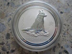 Münze Australien 2006 Lunar I Jahr des Hundes 10 Unzen .999 Silber BU