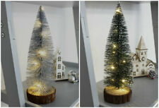 20/30cm Pre Lit LED Christmas Tree Mini Festive Decor Small Tabletop Pine Xmas