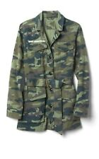 Gap Woman Utility Jacket Belt Camo Camouflage SIZE X SMALL XS NEW WITH TAGS