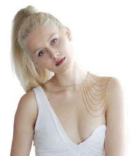 Gold Slave Shoulder Arm Shawl Bride Belly Dance Chain Body Chain Necklace Club